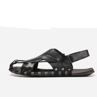 Natürliche Leder Männer Gladiator Sandalen Hecrafted 38 ~ 47 Mode Sommer Männliche Schuhe