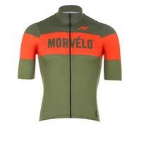 Fabrika Doğrudan Satış Morvelo Takım Bisiklet Jersey Erkekler Yaz Kısa Kollu Bisiklet Tops MTB Bisiklet Gömlek Hızlı Kuru Yarış Giyim Y033004
