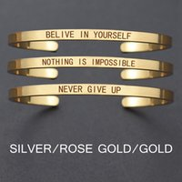"Quotations "" Never Give Up"" Inspirational Stainless..."