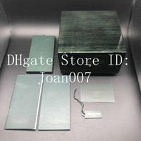 2019 Best Quality Green Green Green Box Case regalo per orologi Booklet Scheda e documenti in inglese Swiss Watches Boxes Top Quality