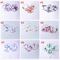 Nuove Paillettes lattice multicolori di modo riempiti Cancella Balloons novità bambini giocattoli Bella festa di compleanno decorazioni di nozze da 12 pollici