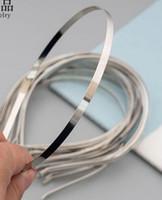 300st 5mm 7mm 10mm Metall Hårband Dekorativ Metall Headband för flickor Hårband DIY CRAFT HAIR HOOP