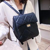 Bolsas estilo simple Mochila Negro femenino de la PU de las mujeres del hombro Leature escuela de moda bolsa para chicas adolescentes envío de la gota mochilas