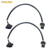 Feeldo 2 stks Auto 12 V 9006 To H16 / 5202 Plug Power Cable Wire Harnas Extension Cable voor HID Conversie Kit Ballast naar voorraad Kabel # 5980