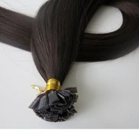 150g 1Set=150Strands Flat tip hair pre bonded keratin hair e...