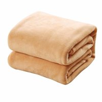 Confortable Super Soft Keep Warm Blanket Flanelle grande taille de couleur unie Accueil Literie Bureau Canapé Blanket Car Home Textile