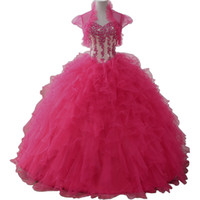 vestidos de 15 años Ball Gown Prom Dresses Tulle Ruffle Tiered Quinceanera Dresses with Bolero Jacket Sweet 16 Dresses Debutante Gown