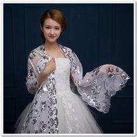Shinning Sequin estilo de encaje de la novia del mantón de las mujeres bufanda del banquete de boda Wraps Poncho wrap pavo real 10 unids / lote # 1577
