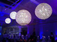 akrilik kristal Bling) gibi ışık düğün salonu ve düğün sahne backgroup dekorasyon için tavan kristal küre asılı top boncuklu