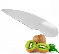 Argent En Acier Inoxydable 2 En 1 Kiwi Facile Peelers Cutter Couteaux Fruit Cutter Fruit Pulp Cuillère Fruit Peeler Cuisine Accessoire Outils
