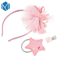 3pcs set Girls Chiffon Crown Flower Hair Bands Bowknot Scrun...