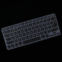 Protezione della tastiera del coperchio della protezione del silicone della tastiera portoghese per la copertura della tastiera di MacBook, il nero