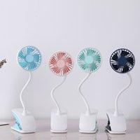 Yaz LED masa lambası, uzun yumuşak salıncak kol ve kelepçe tabanı ile serbest Hands Taşınabilir Masaüstü Şarj Yaratıcı mini USB fan Plastik Soğutma