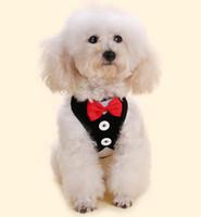 Kleine Hundegeschirr aus Stoff Hundeweste Abendkleid Schmetterling Fliege Welpen-Mantel Leinen Sommer-Haustier-Kleid 12 Designs DHL-freies LQPYW1117