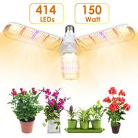 414 LED Coltiviamo lampadina 150W pieghevole Daylight spettro completo coltiva le luci per le piante d'coltivazione di ortaggi lampadina impianto