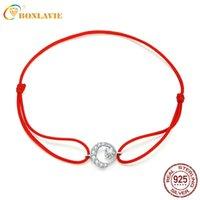 Andere Armbänder Bonlavie Rotes Seil S925 Sterling Silber Armband Mode Artikel Geschenk Großhandel Schöne Accessoire Frauen Schmuck