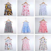 أزياء الفتيات اللباس الصيف أكمام فساتين sute الكرتون منامة الأميرة مصمم قطعة واحدة تنورة جميلة شاطئ اللباس الملابس 22 sstyle