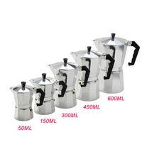 3cup / 6cup / 9cup / 12cup Cafetera de aluminio Mocha Espresso Percolator Pot Cafetera Moka Pot quemadores Cafetera