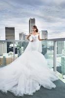 2020 Off Hombro Modesto Sirena Vestidos de novia Dubai Sale Lace Applique Aplique Sexy Illusion Chapel Tren Vestidos de Mariee Vestidos nupciales MD12