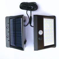 Lumière solaire de mur de capteur de mouvement de jardin d'énergie solaire 20 LED 30 LED lampes économiseuses d'énergie étanches d'extérieur rue chemin de sécurité lampe DH1185