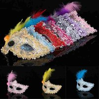 Sexy Venetian Lace feather eye mask beautiful princess party...