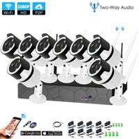 8CH Dois Way Audio Talk HD Wireless NVR Kit P2P 1080P IR Night Vision Security 2.0MP Áudio IP Camera Wifi Sistema CCTV