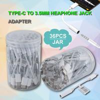 digitare c per cuffie da 3,5 mm adattatore jack supporto musica e voce chiamata telefonica con il cavo adattatore AUX trasferimento femminile di plastica vaso 3,5 millimetri UPC
