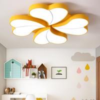 Anaokulu dört yapraklı yonca LED tavan lambası basit modern aşk lamba şeklindeki yatak odası lamba sıcak düğün odası çocuk lamba AL64