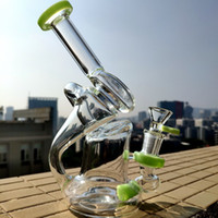 New Arrival Unique Bong 7 Inches Recycler Rigs Sidecar Dab O...
