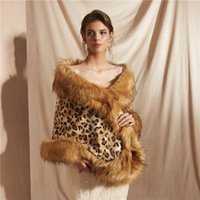 Sexy leopard shawl faux fur bridal dress shawl warm warm sha...
