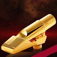 أفضل الجودة الفنية تينور سوبرانو ألتو ساكسفون المعدنية لسان الحال الذهب الطلاء الناطقة باسم ساكس