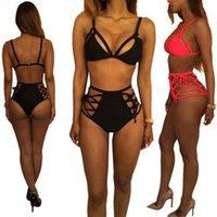 Новая сексуального бикини Женщина повязка купальник высокой талия проложенных купальники Swim Холтер Push Up бикини Установить размер S-XL