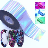 7pcs Holographic Nail Foil Colorful Transfer Stickers Starry Decals Sliders For Nail Art Decoration Tips Manicure Tools