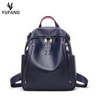 Women Backpack Genuine Leather Fashion Causal Bags High Qual...