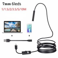 1 / 1,5 / 2 / 3,5 / 5M / 10M 7mm Endoskop-Kamera-HD weiche Kabel Wasserdicht 6 LED Mini-USB-Endoskop Inspektionskamera