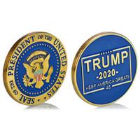 Moneta Sfida Militare degli Stati Uniti Nuovo Presidente degli Stati Uniti Trump 2020 Mantieni l'America Grande Sfida Moneta Badge Collezione Militare Regali