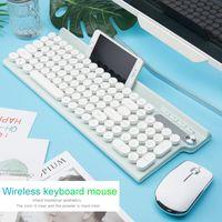 Teclado USB 2.4G ratón inalámbrico recargable Teclado Ratón Para Macbook Asus Dell Laptop teclado Ratones del ordenador de teclado