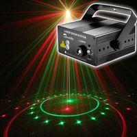 Mini Lazer Projektör Sahne Aydınlatma Disko Işık Led Parti Işıkları Kırmızı Yeşil