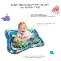 Baby Kids Water Play Mat Dual Use Toys Inflatable Water Mat ...