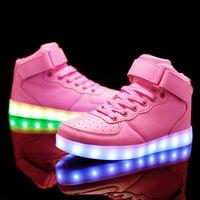 USB Charger Basket Led Children Shoes With Light Up Kids Casual Boys Girls illuminated krasovki Luminous Sneaker Girls Illuminated Footwear