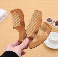 20 stücke Holzkamm mit Griff natürliche Gesundheit Pfirsich Holz Antistatische Gesundheitswesen Bart Kamm Haarbürste Massagegerät Haar Styling Werkzeug
