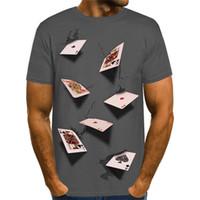 3D بوكر مصمم الرجال عادية بلايز أزياء الصيف أنيق عارضة الأعلى بأكمام قصيرة تيز