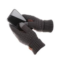 Outdoor Sports Riding Skiing Winter Warm Gloves Knitted Touc...