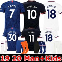 TOP 19 20 Man and Kids LAMPARD ABRAHAM PULISIC KANTE maglia di calcio 2019 2020 MOUNT GIROUD WILLIAN maglia maillot de foot