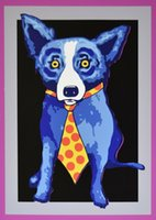 George Rodrigue Blue Dog Tie Home Decor Handpainted &HD Prin...