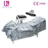 3 em uma terapia de pressão de linfa de drenagem no infravermelho longínquo estimulador aquecimento muscular baixa frequência EMS cobertor sauna máquina de microcorrentes