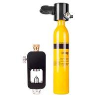 DIDEEP 3pcs / set Mini Equipo de buceo Buceo oxígeno respiración del depósito de la bomba de mano del tanque de aire del cilindro de oxígeno bolsa adaptador