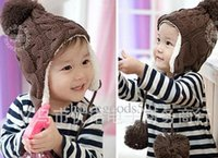 62e07680dfbc1 New Arrival. -Baby Winter Warm Beanie Hat Earflap Fur Cap Ski Hats Children  Headwear 2-6Y ...