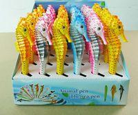 Animaux océan poisson stylos à bille Mer Creative Cheval Pen Retour à l'école Party Cadeau événement Faveur Prix étudiant Noir Bleu Encre 0.7mm