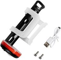 Uyarı Işık Raf Aksesuarları Ön Bisiklet ABS Su Şişesi Tutucu USB Şarj Bisiklet Şişe Braketi Bisiklet Ekipmanları